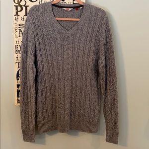 Hudson North Men's Cable V-neck Sweater
